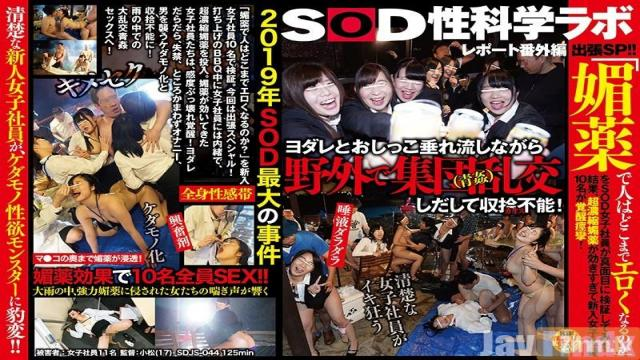 SDJS-044 Studio SOD Create - How Erotic Can A Person Become With Aphrodisiacs? These SOD Female Employees Did A Serious Investigation, And They Discoered That These Ultra Highly Concentrated Aphrodisiacs Work Too Well, And Now All 10 New Female Employees Are Exp