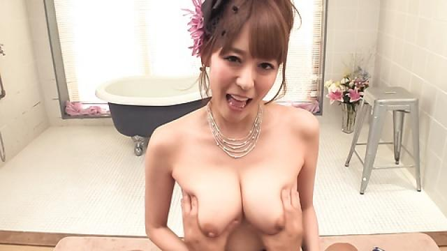 Akari Asagiri fantastic Asian blowjob in POV mode